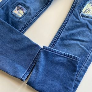 Justice Flip Sequins Design Girls Jeans Sz 10 Slim